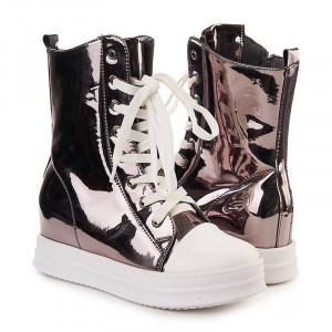 Sneakers inalti metalic Salma