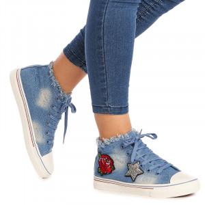Tenesi din jeans Marta blu