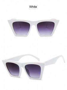 Ochelari de soare vintage cu model patrat Giuliana alb