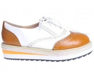 Pantofi alb cu galben Lawson
