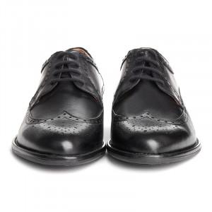 Pantofi barbati din piele naturala oxford Beppe negru