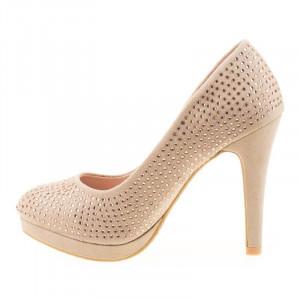 Pantofi cu platforma chic Tania bej