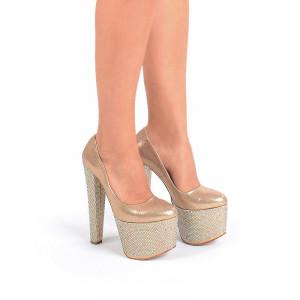 Pantofi cu platforma gold Mia