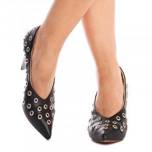 Pantofi cu toc gros trendy Anetta