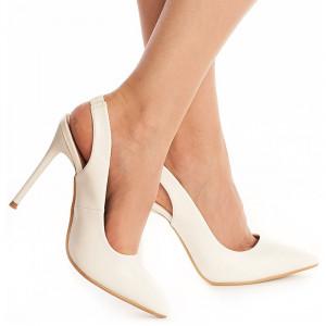 Pantofi cu toc inalt stiletto decupat Theresa