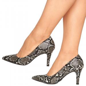 Pantofi cu toc mediu stiletto Marta negru