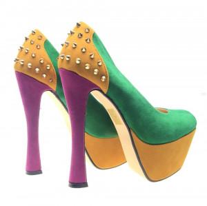 Pantofi dama verzi Spider