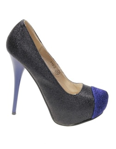 Pantofi de dama black/blu Glitter