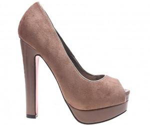 Pantofi khaki cu varf decupat Katerina