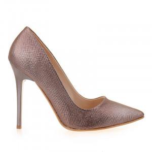 Pantofi stiletto Adele bronze