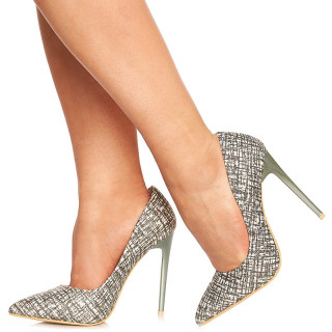 Pantofi stiletto cu toc inalt din velur Olivia