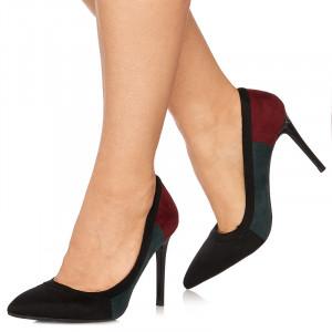 Pantofi stiletto cu toc inalt Italia negru