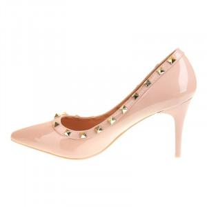 Pantofi stiletto cu toc mediu Carla nud