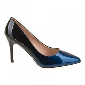 Pantofi stiletto cu toc mediu elegant Ami blu