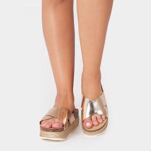 Papuci dama, FLORIA, Auriu