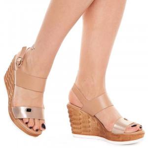 Sandale cu Platforma Inalta Sherine Oro