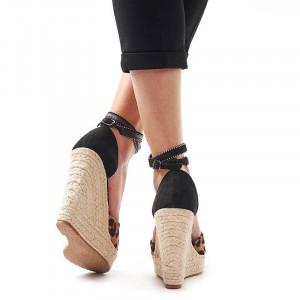 Sandale cu platforma Leopardo