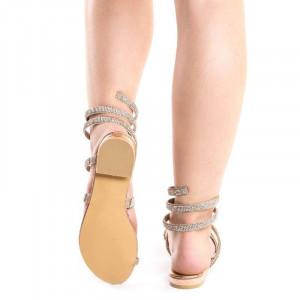 Sandale cu talpa joasa chic Amira auriu