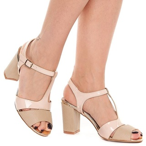 Sandale cu toc gros Mia