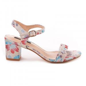 Sandale cu toc imprimat chic Salma