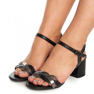 Sandale cu toc mediu gros Adele