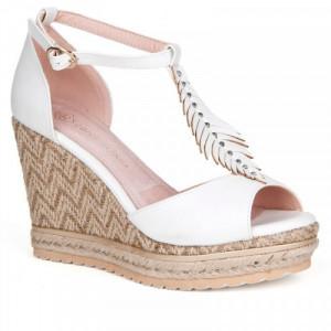 Sandale dama, ALVIRA, Alb