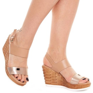 Sandale dama cu Platforma Inalta Sherine auriu