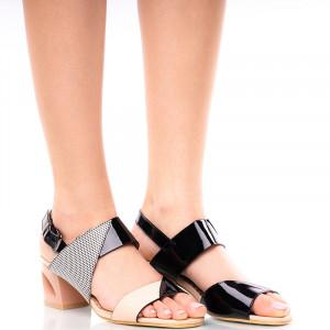 Sandale dama cu toc mediu CLARA negru