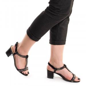 Sandale de ocazie metalic Alma negru