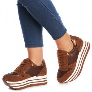 Sneakers cu talpa inalta Alberta