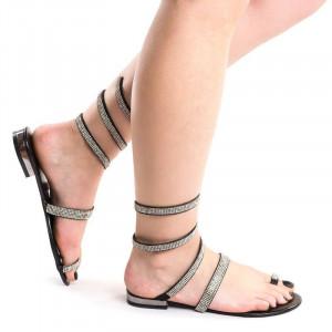 Sandale cu talpa joasa chic Amira negru