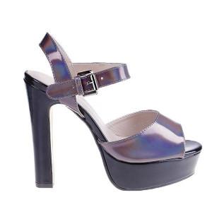 Sandale Germina negru/gri