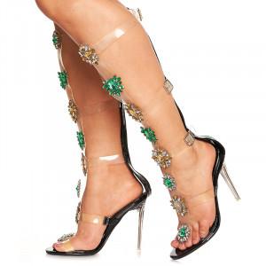 Sandale cu toc inalt deosebite Amalia