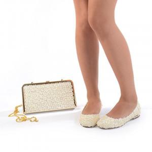 Pantofi de mireasa cu poseta inclusa Bianca