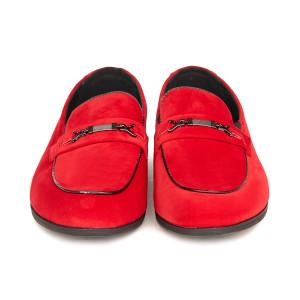 Pantofi Barbati Loafer din Velur Alberto Rosu