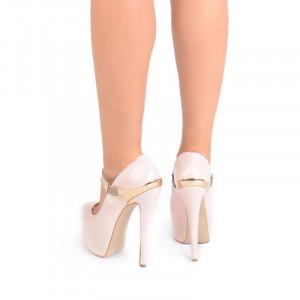 Pantofi cu platforma bej Bianca