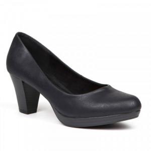 Pantofi dama, casual cu toc mic, Negru.