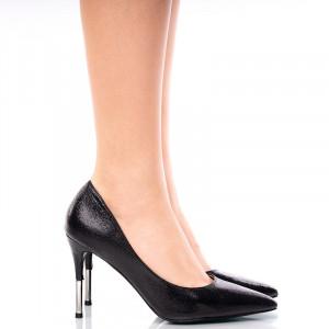 Pantofi dama stiletto cu toc Inalt Alma negru