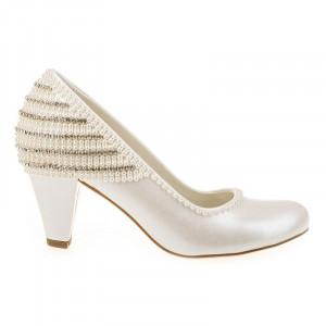 Pantofi de mireasa cu toc mic Salma