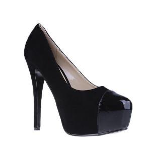 Pantofi Grettle negru/sued/pat