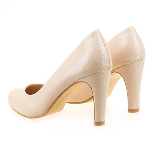Pantofi office cu toc mediu Anne bej