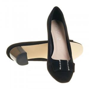 Pantofi office cu toc mic Adela nero