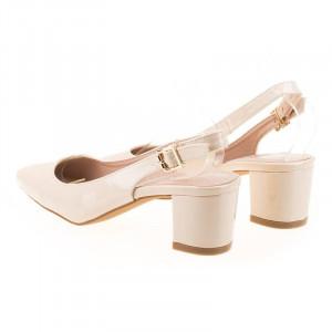 Pantofi office decupat Anita bej