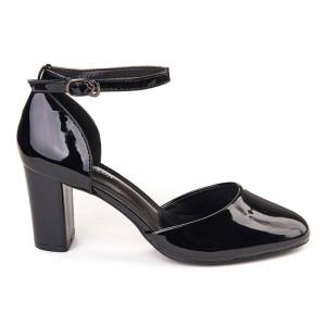 Pantofi office decupati din lac negru Marta