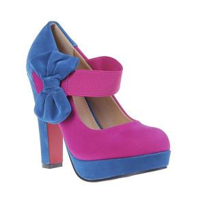 Pantofi Sorana blu/ fuchsia