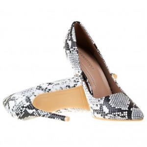 Pantofi stiletto cu toc inalt snake Antonia
