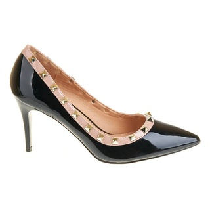 Pantofi stiletto cu toc mediu Carla blk