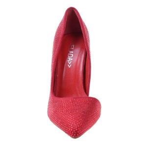Pantofi stiletto rosii Shinny