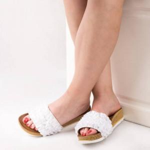 Saboti la moda Mira alb