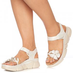 Sandale cu talpa sport Rosaria alb